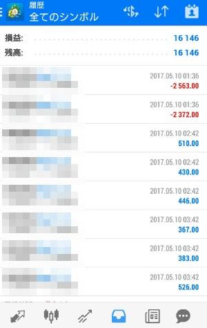 FX自動売買ツールavancer ea 2017年5月10日実績