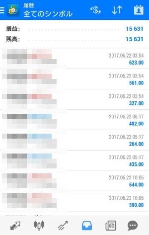 fx自動売買avancer ea20170622トレード実績