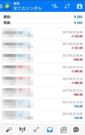 fx自動売買ツールavancer ea20170623トレード実績